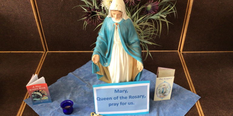 Photograph of Mary - Year 5 Rosary Liturgy
