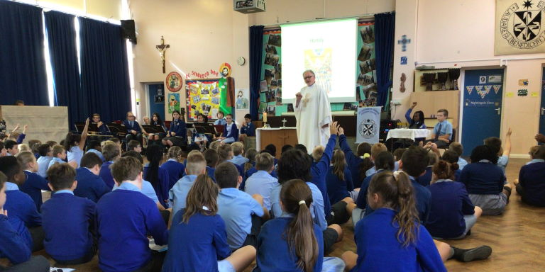 Photograph of our Year 3 Welcome Mass